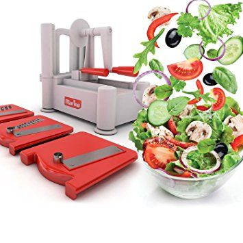 Marino Tri-Blade Vegetable Spiralizer, Strongest Sturdiest Spiral Slicer, Best Veggie Pasta Spaghetti & Zucchini maker-Includes Cleaning Brush Review 2017