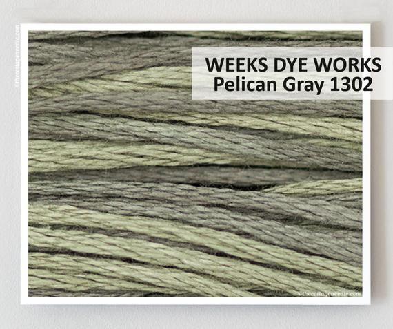 PELICAN GRAY 1302 Weeks Dye Works WDW hand-dyed 6-strand