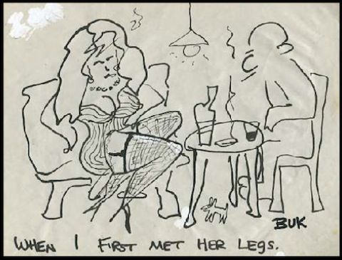 """""""Notes from a Dirty Old Man"""": Charles Bukowski's Lost Cartoons from the 60s and 70s http://www.openculture.com/2013/08/notes-from-a-dirty-old-man-charles-bukowskis-lost-cartoons-from-the-60s-and-70s.html"""