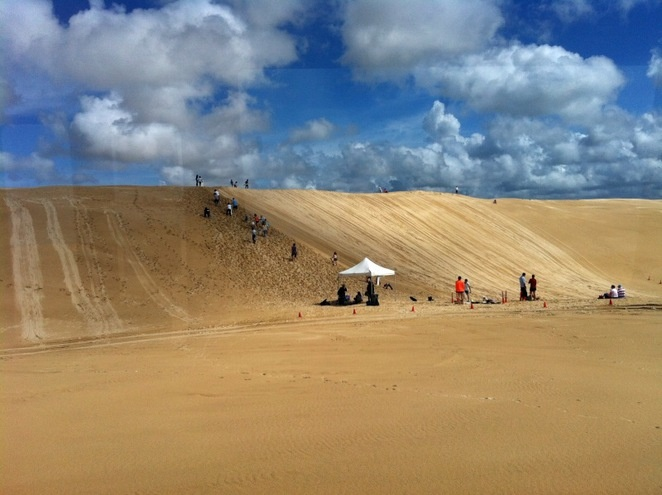 Port Stephens 4WD Tours Sandboarding, just north of Newcastle, NSW