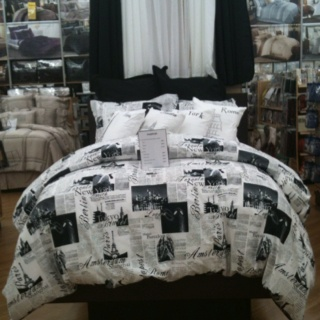 London Paris Rome And New York City Bed Set For The Home