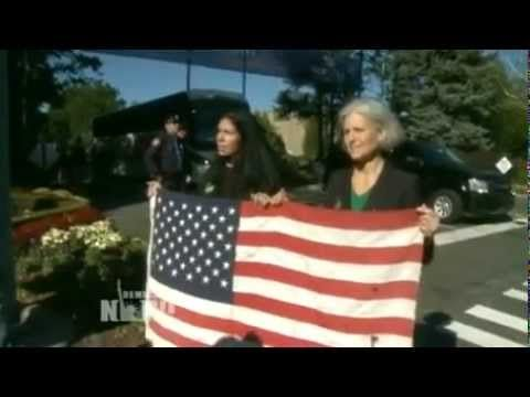 Green Party Candidates Arrested, Shackled to Chairs For 8 Hours After Trying to Enter Hofstra Debate  Transcript: http://www.democracynow.org/2012/10/17/green_partys_jill_stein_cheri_honkala