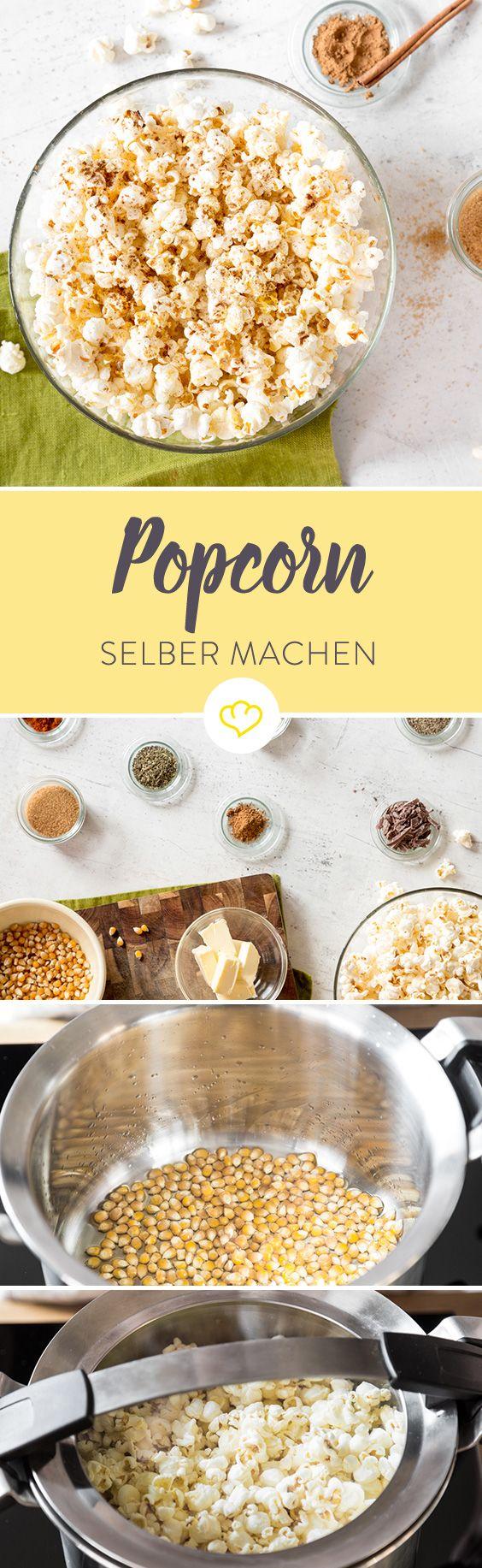 Selbstgemachtes Popcorn wie im Kino? Oder wild verfeinert mit Chili, Zimt und Schokolade? Klar geht das und ist dazu noch kinderleicht.