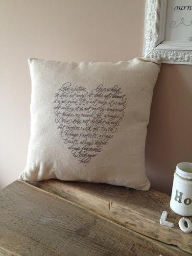 Vintage Cushion with Provencal Style  Valentine's Day by ByBeeSee