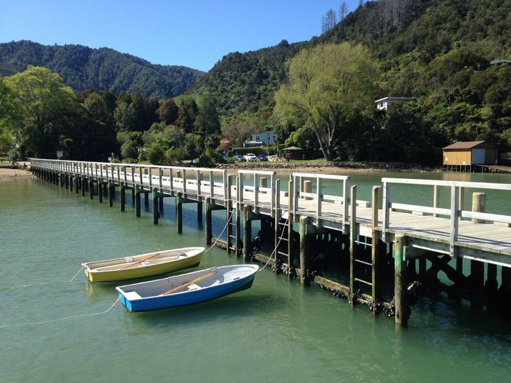 Final view of Anakiwa before finishing the final day of the Queen Charlotte Track....