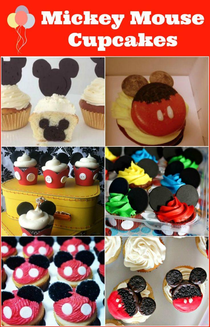 Mickey Mouse Cupcakes #cupcakes #birthday #mickey #disney