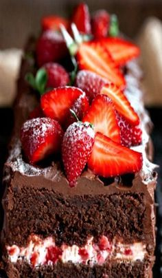 Chocolate Cake with Strawberry Cream Cheese Filling