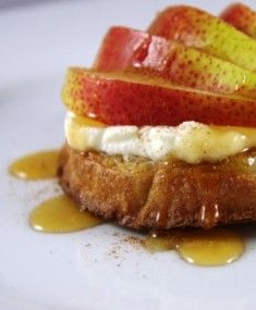 Crumpets with Ricotta and Pear