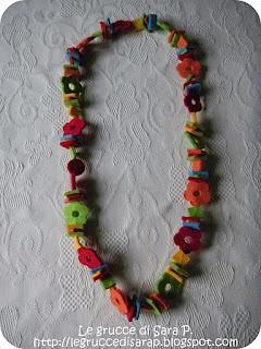 Collane di pannolenci delle grucce di Sara P.