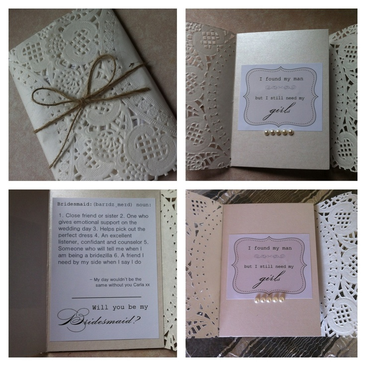 Doily Rustic Bridesmaid Invitation 31 best Popping