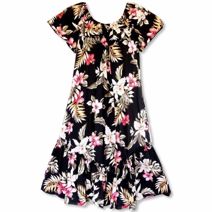 Kopikala Short Ruffle Hawaiian Muumuu Dress
