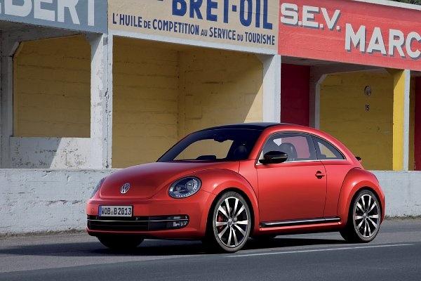 red VW Beetle 2012
