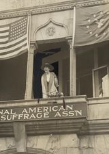 Jeannette Rankin's First Speech in Washington. She was the first woman elected to Congress. She represented her district in Montana.