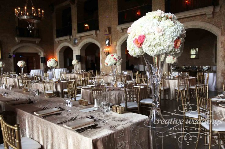 #Champagne Gold wedding in Mt. Stephen Hall at @FairmontBanff with centerpieces from #CreativeWeddingsFloralDesigns; linens from #CelebrationCreation and table runners from @SEREvents  #BanffWeddingPlanner #CreativeWeddings #CanmoreWeddingPlanner http://www.creativeweddings.ca