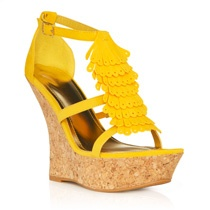 JustFab.com - Moris *waiting*: Maxi Dresses, Shoe Addictions, Yellow Sandals, Dream Closet, Shoes Gorgeous, Awesome Shoes, Yellow Wedges, Scarf Dress, Dress Poll