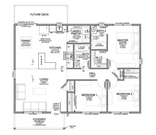 18 Best House Plans Images On Pinterest 2 Bedroom House