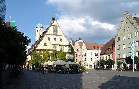 Nathan's Birth Place!!! Weiden in der Oberpfalz, Germany: Oberer Markt mit dem Alten Rathaus.