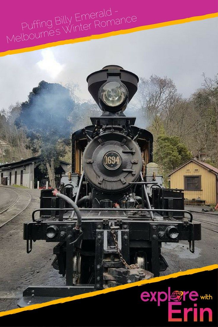 Puffing Billy Emerald: Melbourne's Winter Romance - Explore With Erin. Take a train ride through time and through nature like never before. Beautiful Australia