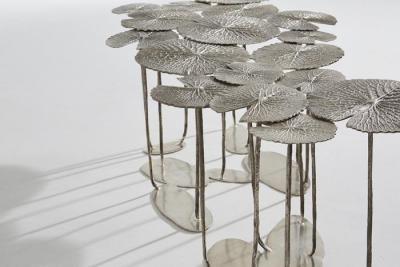 Fillo длинный стол посеребренные бронзовые | Александр Ламонт