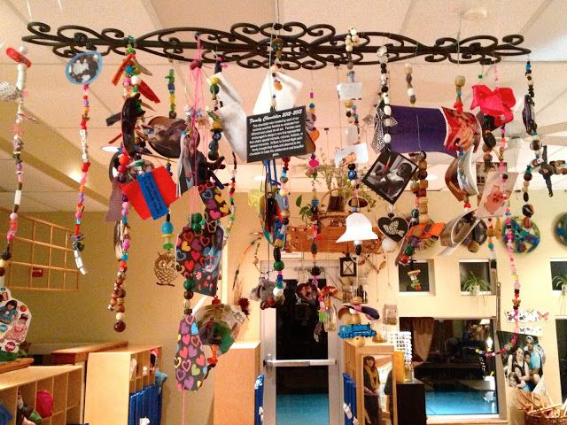 Fairy Dust Teaching Kindergarten Blog: Reggio Emilia: Hanging Art~ each family made a strand that represented their family values and traditions. Great Blog a Must read.