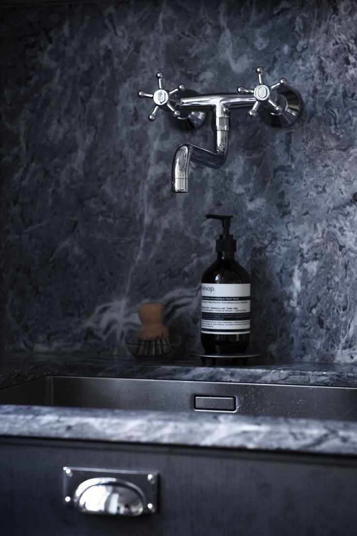 stylist and luxury supply lines for kitchen sink. Grey living kitchen  via Coco Lapine Design 148 best Grifos para la cocina images on Pinterest Kitchens