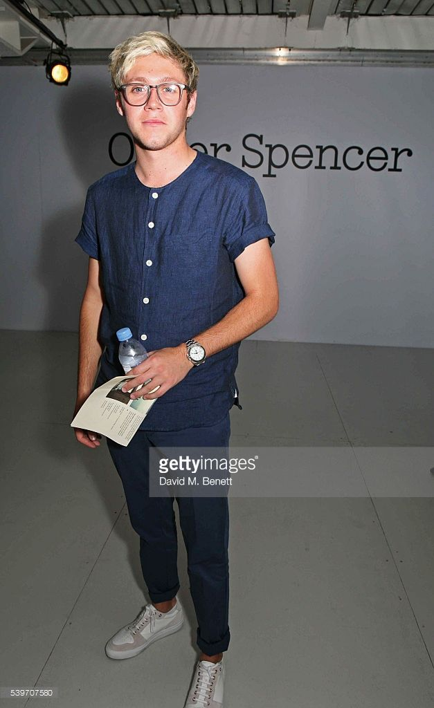 Niall Horan attends the Oliver Spencer show during The London Collections Men SS17 at the BFC Show Space on June 10, 2016 in London, England.
