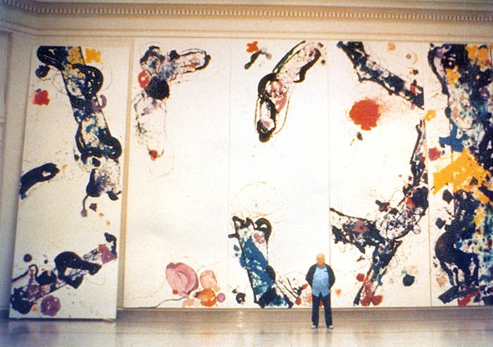 Sam Francis SFMOMA Installation of John Annesley Museum Stretcher Bars