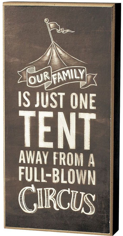 Our Family, One Tent Away From Being A Full-Blown Circus | to go with our monkey quote!