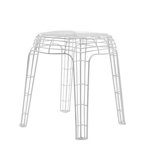 Wire Stool White, £89, now featured on Fab.