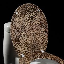 @Overstock - Add a fun, colorful touch to your bathroom decor with this contemporary toilet seat. This toilet seat features melamine construction.http://www.overstock.com/Home-Garden/Leopard-print-Designer-Melamine-Toilet-Seat-Cover/5298220/product.html?CID=214117 $29.99