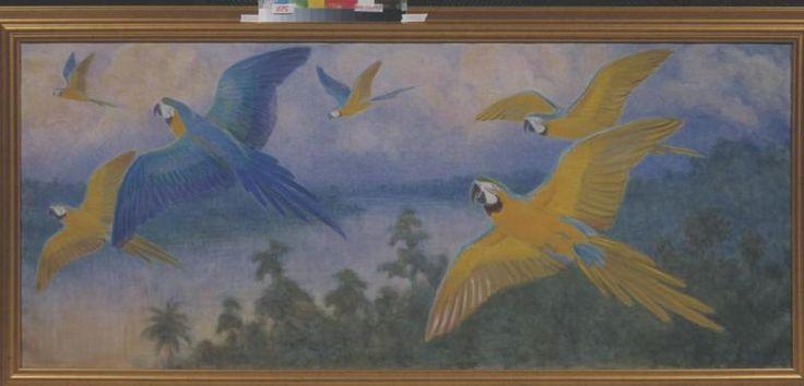 Фонды Государственного Дарвиновского Музея  Попугаи ара сине-желтые.  Автор:  Ватагин Василий Алексеевич