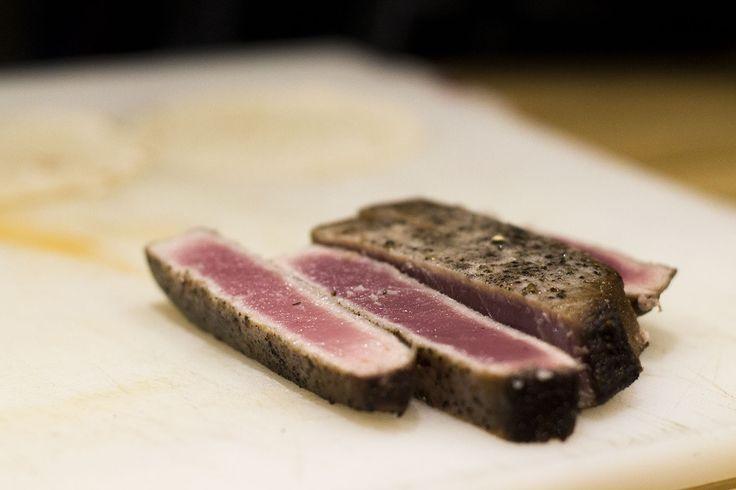 SASSI Green listed seared tuna at Graciales tapas bar.