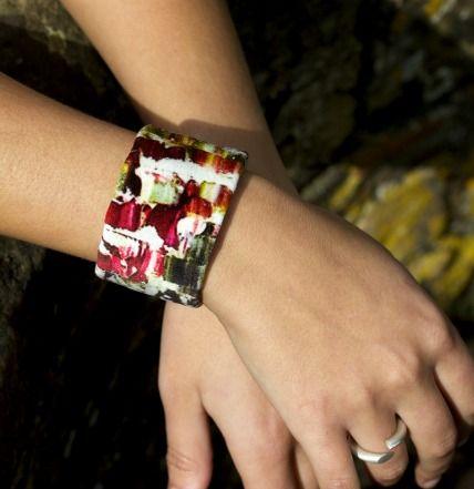 'Breathe' cuff in veldt with silver handmade catch £75