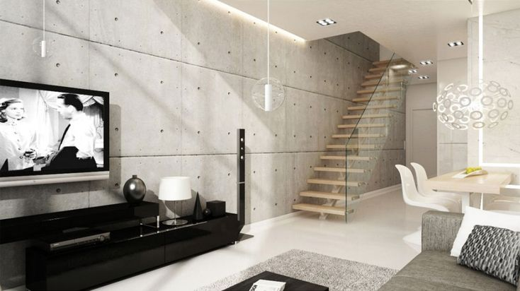 Cement Wall Finish | wall treatments | Pinterest