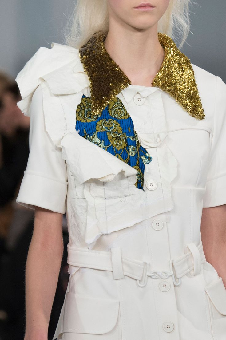 John Galliano for Maison Margiela SS 2016 Artisanal Look 2,Model-Julie Hoomans