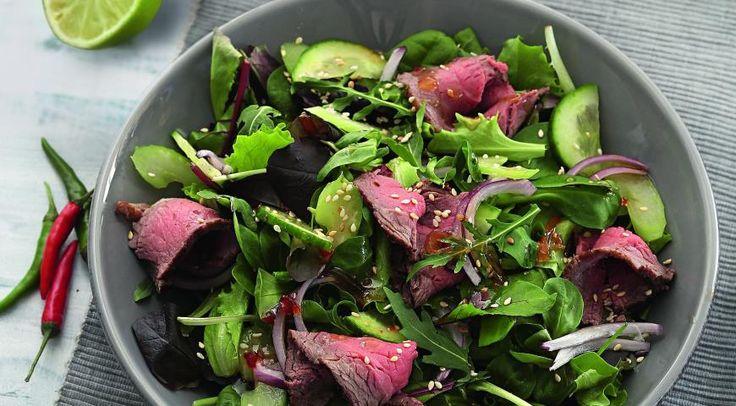 Тайский салат сговядиной