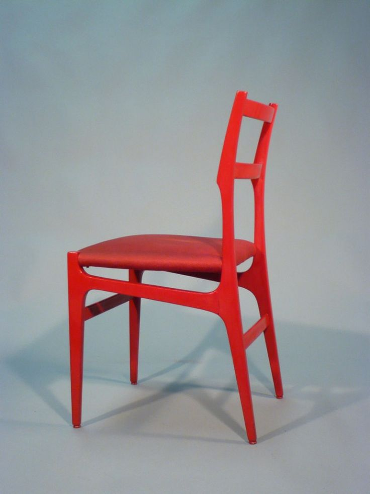 Gio Ponti; #646/2 Lacquered Wood Chair for Cassina, 1955.