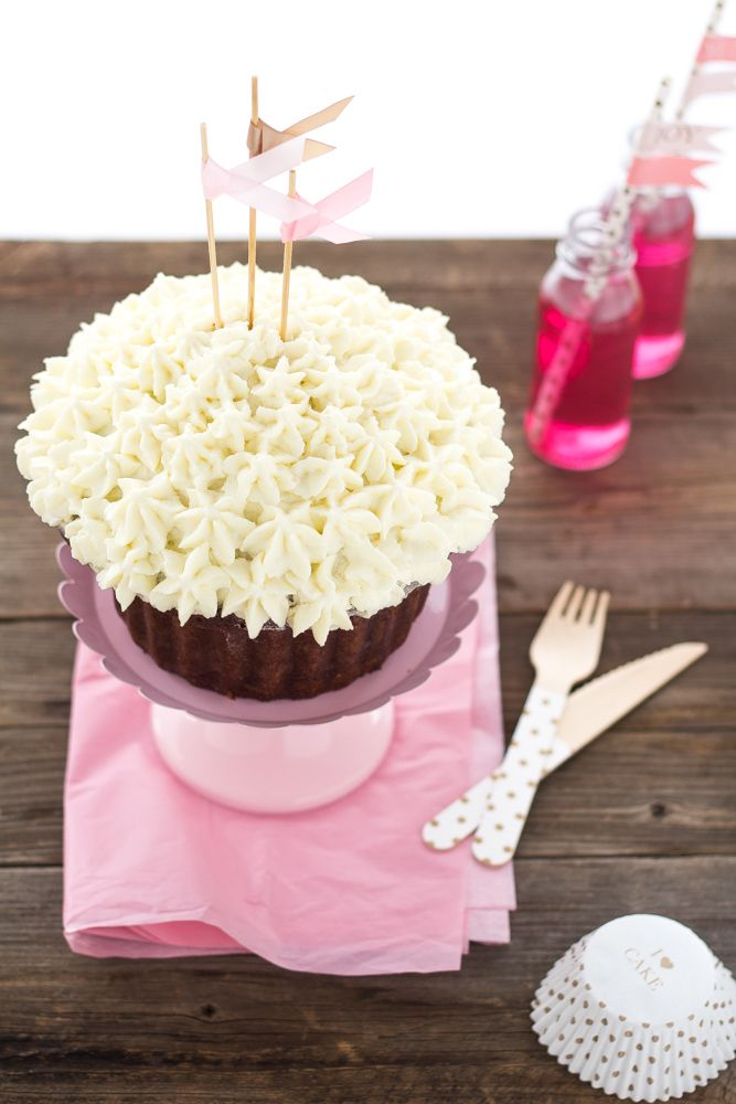 Cupcake gigante al cioccolato