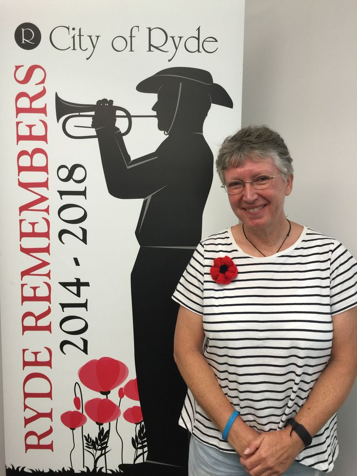 Poppy brooch knitting workshops at Ryde Library in the lead up to Remembrance Day services across the country.