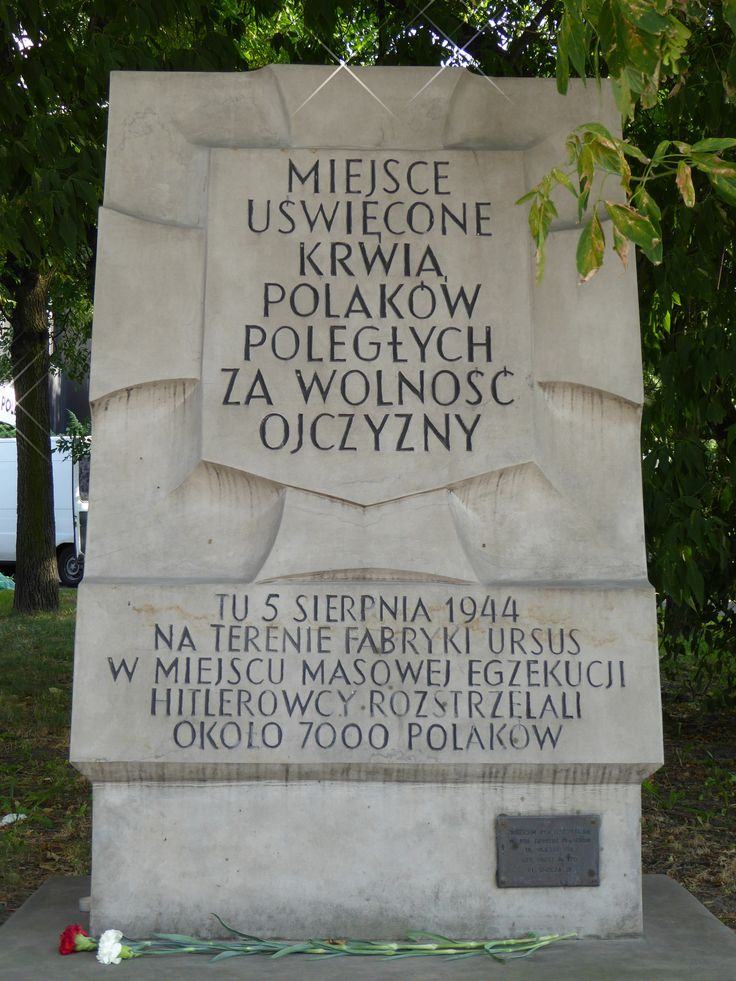 "A ""Tchorek plaque"" on Wolska Street. This plaque commemorates the murder of 7000 people by the Germans in the grounds of the Ursus factory during the Wola massacre...."