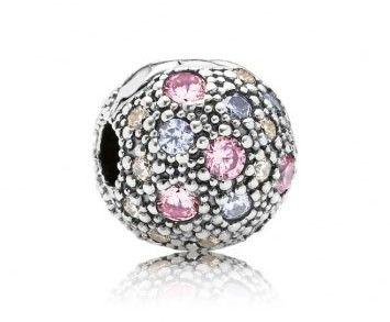 Pandora bedel Clip-stopper 791286PCZMX, De mooie paarse kosmische sterren clip-stopper heeft een mooi en speels design. Het schittert dankzij de mix van doorzichtige, roze zirkonia edelstenen. https://www.timefortrends.nl/sieraden/pandora.html