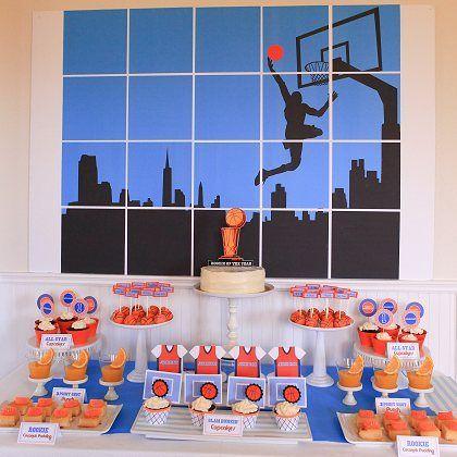 Basketball Party Backdrop