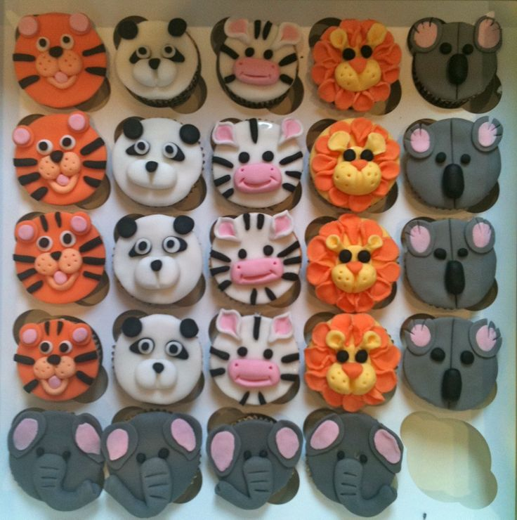 Animal Cup Cakes