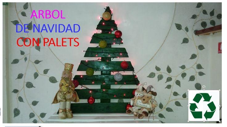 ARBOL DE NAVIDAD CON PALETS / PALLET CHRISTMAS TREE
