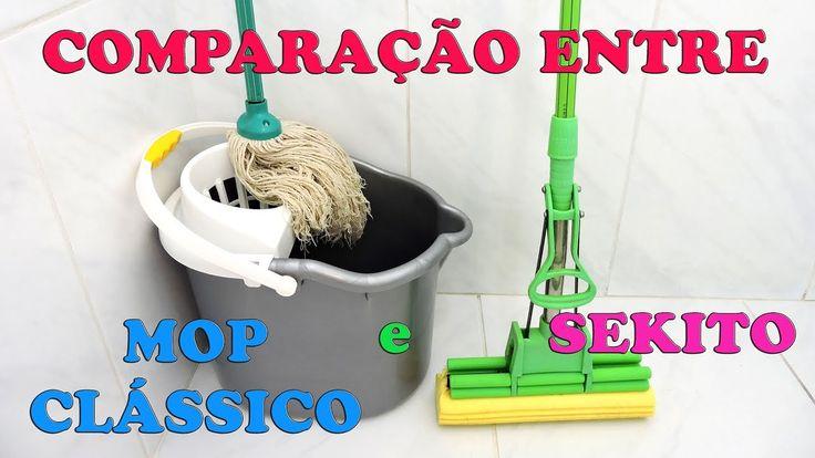 Comparação entre MOP clássico e Sekito na limpeza do chão - Gatil Hauser - YouTube