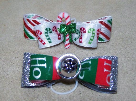 Dog Hair Bows Two Christmas Holidays by CreateYourOwnDesign