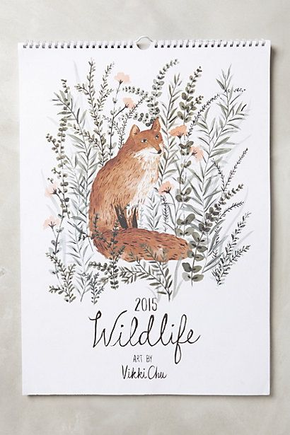 Wildlife 2015 Calendar #anthropologie