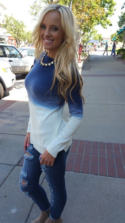 Ombre Sweater - so cute for Fall! Love this look!