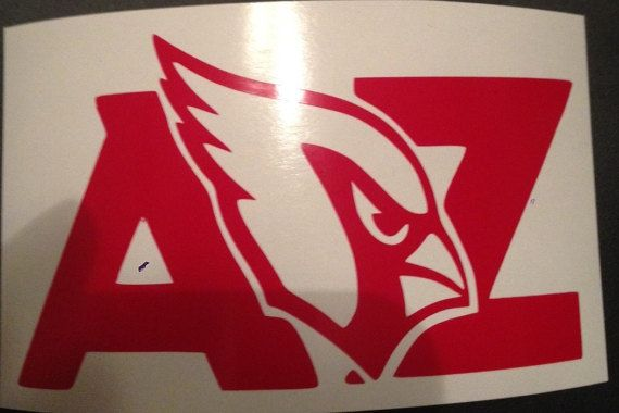 This Arizona Cardinals NFL team logo vinyl decal is perfect for personalizing any item you can think of. Most of my customers use them on their