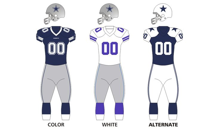 Dallas Cowboys uniforms